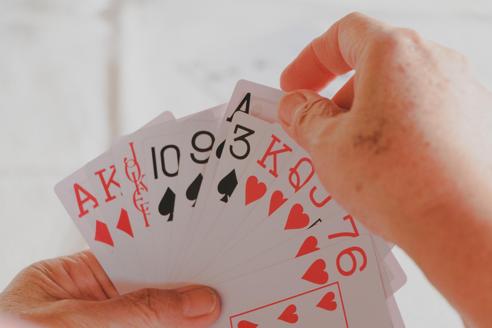 leque de cartas