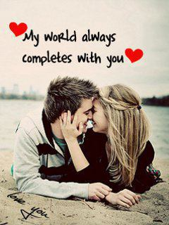my world always completes with you