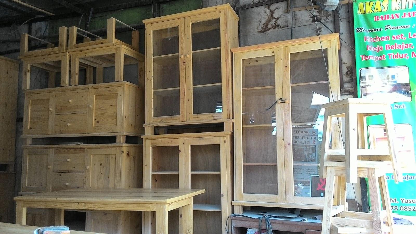 Furniture kayu jati belanda akas kitchen set di depok for Kitchen set kayu jati belanda
