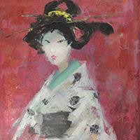 Francesc Suñer pintura figurativa Geisha Japón