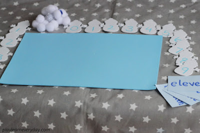 two digit number snowman game set up