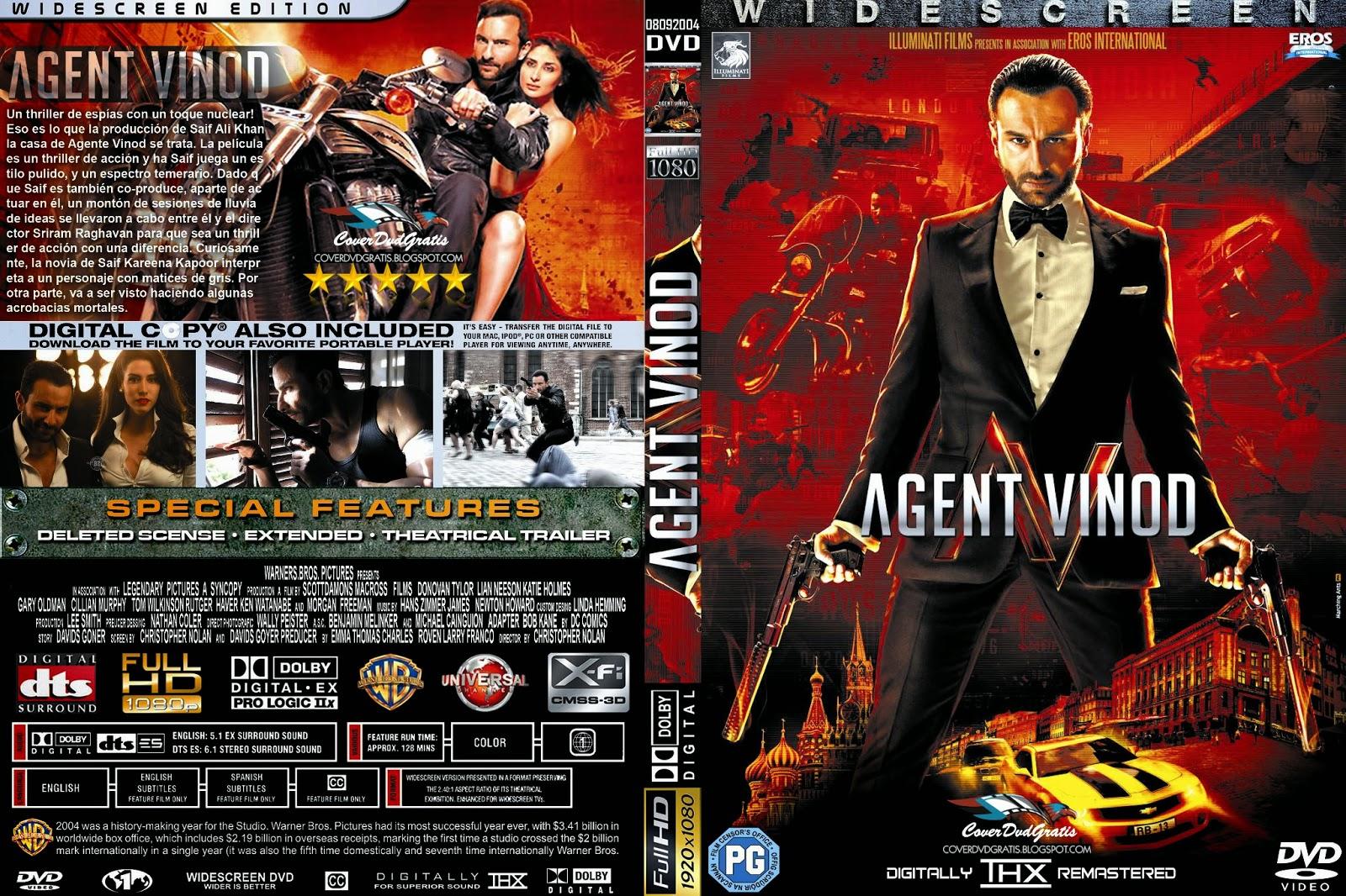 Agent Vinod 2012 DVD COVER - CoverDvdGratis