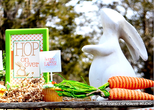 Pier i bunny, hop on over, hoppy easter party, carrots, outdoor easter party