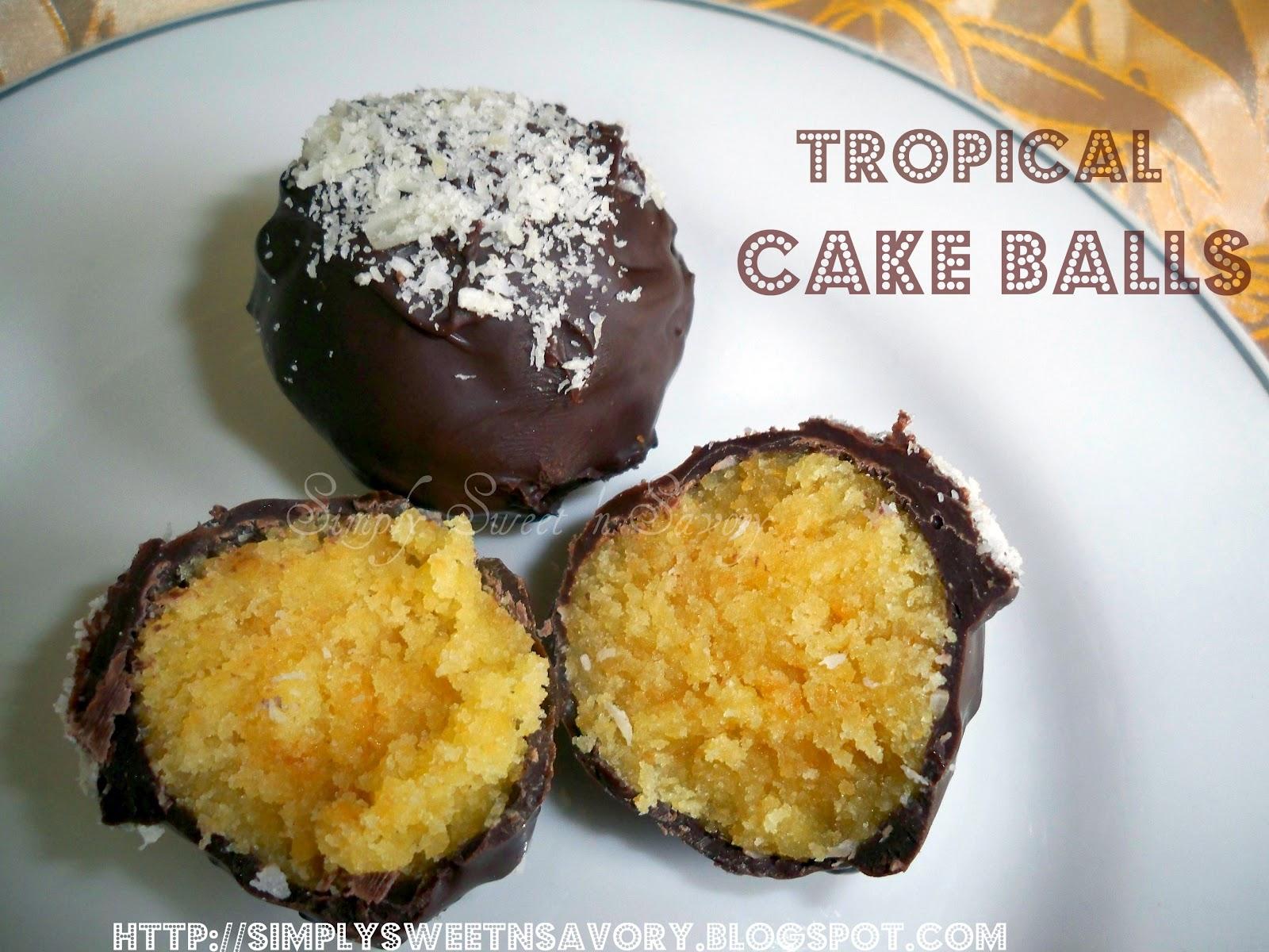 Chocolate Dipped Cake Balls Recipe