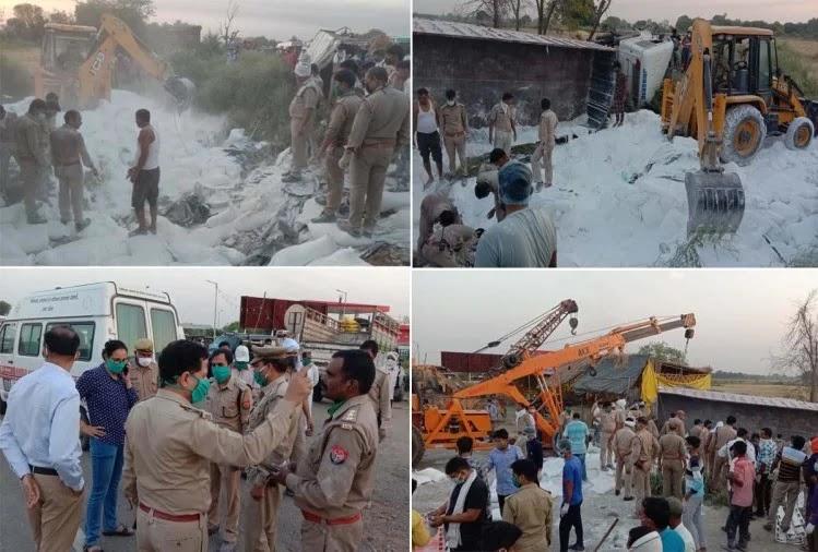 heavy-road-accident-in-auraiya-24-migrant-laborers-killed-यूपी के औरैया में भीषण सड़क हादसा, दो ट्रकों की टक्कर में 24 मजदूरों की मौत