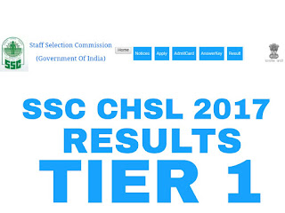 ssc CHSL 2017 results