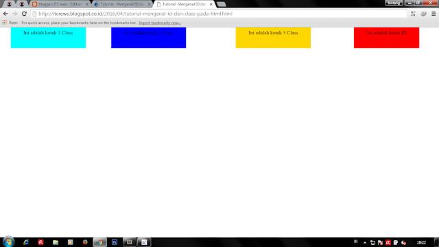 Tutorial : Mengenal ID dan Class pada html