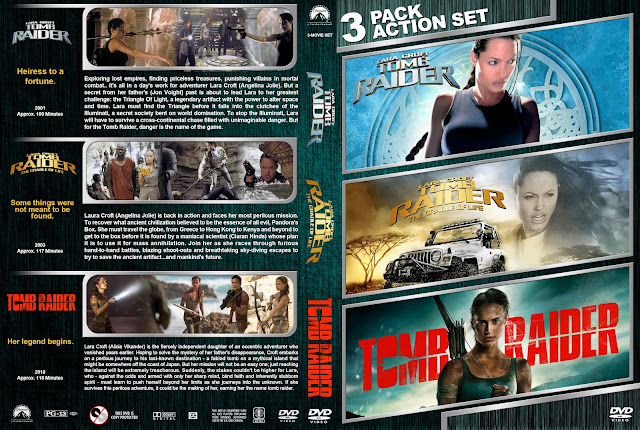 Tomb Raider Triple Feature DVD Cover