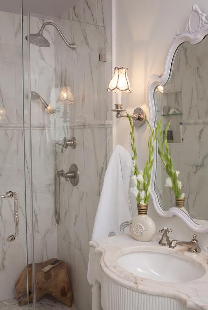 Julie Paulino Design marble shower