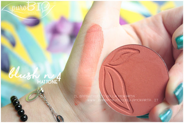 blush 4 mattone purobio recensione review swatches
