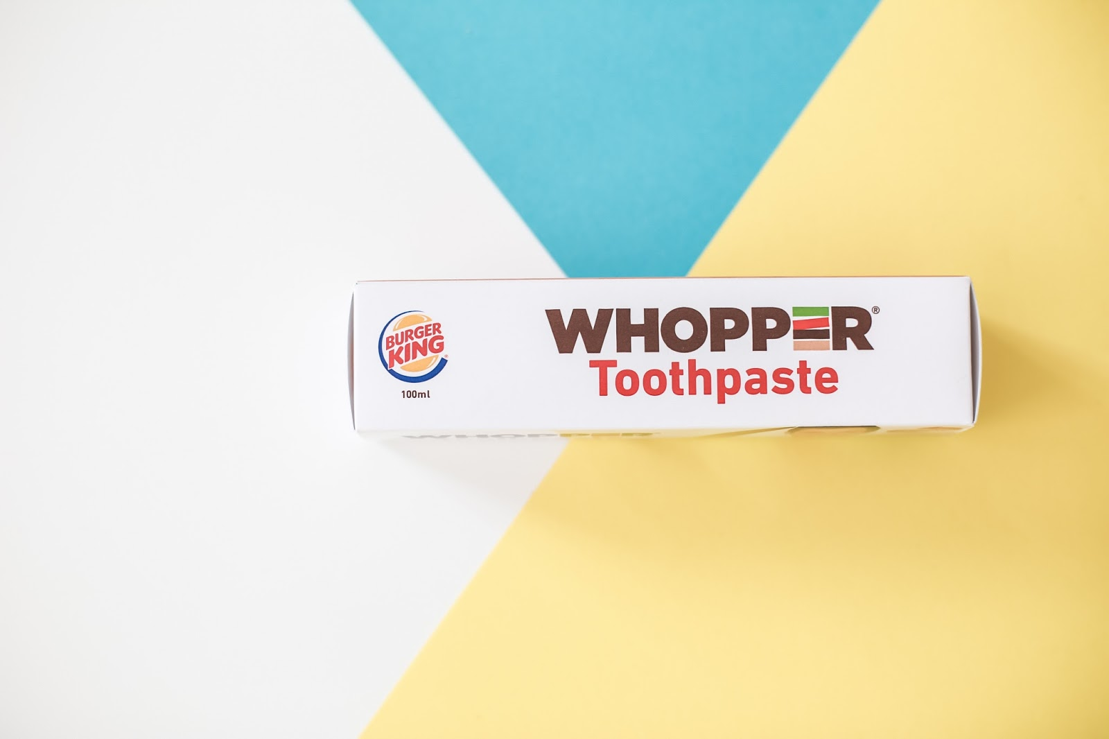 burger king dentifrice goût whopper