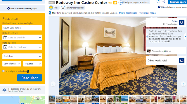 Estadia no Hotel Rodeway Inn Casino Center em South Lake Tahoe