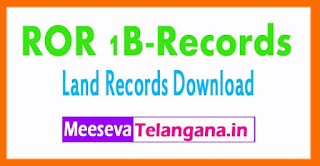 Telangana-TS-1-బి నమూనా (ROR)-Land Records ROR 1B-Records Free-Download Mabhoomi
