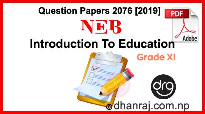 Instructional-Pedagogy-Grade XI-Question-Paper-2076-2019-Subject-Code-136-C-NEB