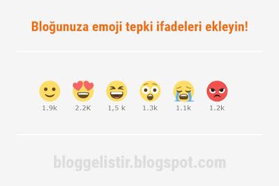 blogger emoji tepki eklentisi