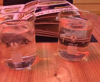Pyrex glasses as normal drinking glasses at Yamitsuki Ramen