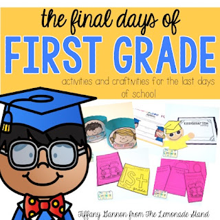 Looking for end of the year activities for the last week of school?  This end of the year pack is perfect for those last days of first grade.  Your students will love creating a memory book, second grade ready hat, second graders can, have, are mini-book, a graduate craft, and printable diplomas.  These will create the perfect keepsake for parents!