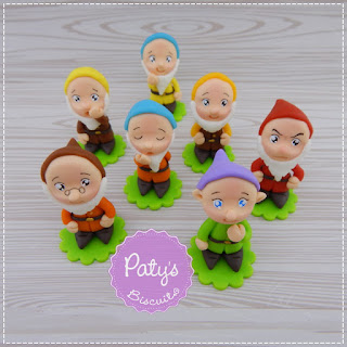 Lembrancinhas Branca de Neve e os Sete Anões - Festa Infantil - Paty's Biscuit