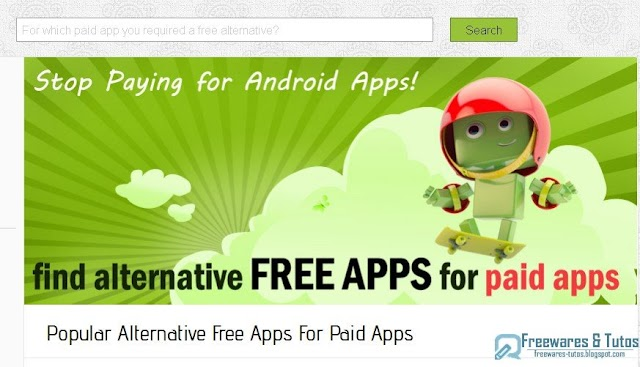 Le site du jour : Antiroid : des alternatives gratuites aux applications Android payantes
