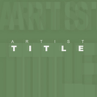 Create a stunning album cover with this simple background and 3d text