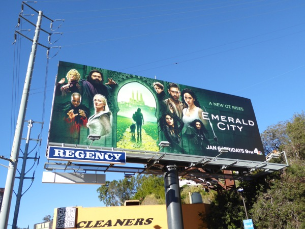 Emerald City series premiere billboard