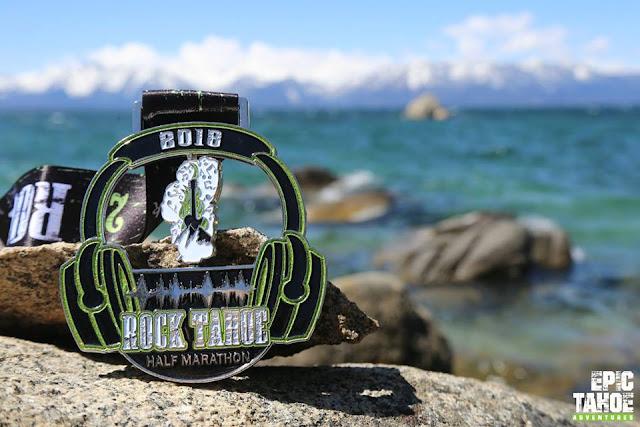 Rock Tahoe Half Marathon medal 2018