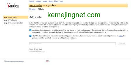 Cara Submit Blog Ke Yandex Webmaster Tool