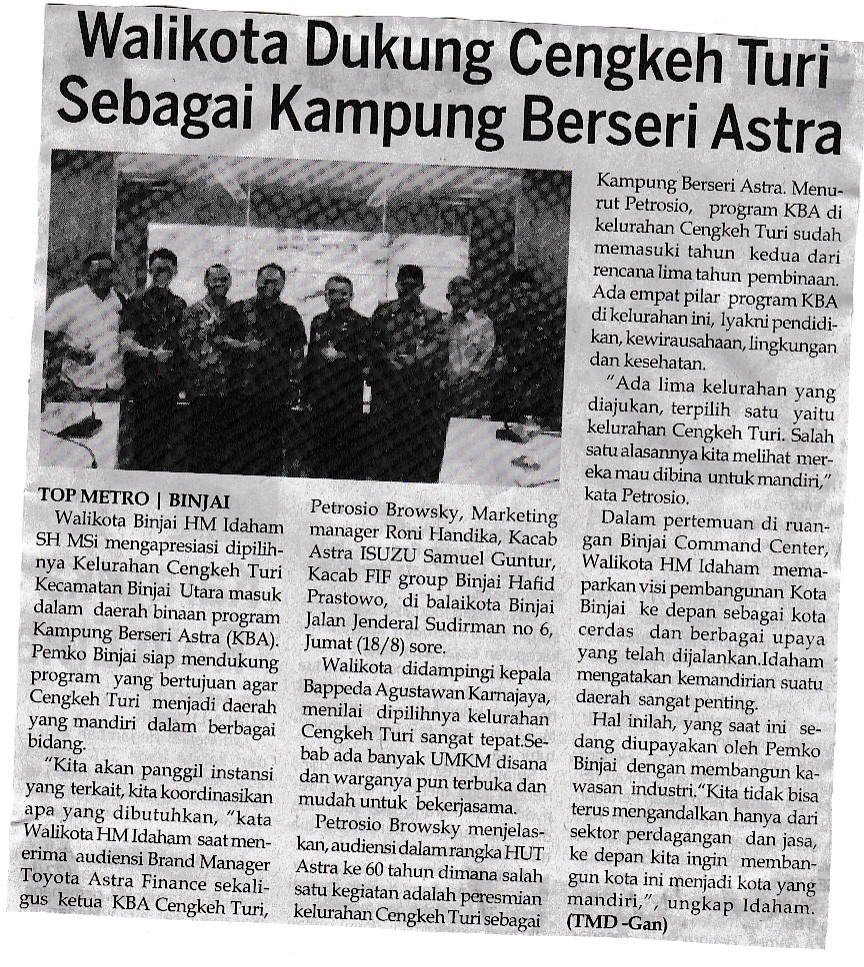 Hasil gambar untuk Keteraturan Kampung Cengkeh Turi Medan sebagai Kampung Berseri Astra