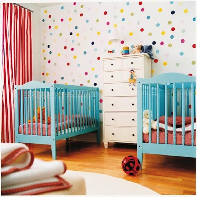 Dormitorios para bebes gemelos o mellizos for Cuartos para ninas 2 anos