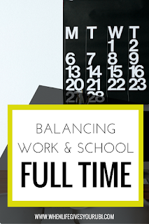 Learn how to balance working and going to school full time, from someone who has managed to do it all the past three years. Tips and advice to working hard and still enjoying your life.
