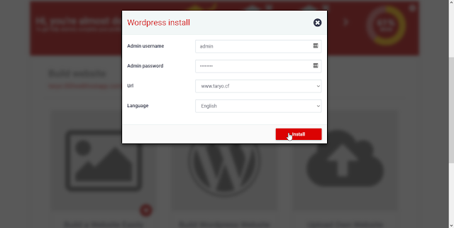 How to Install Wordpress in Own Domain 000webhost