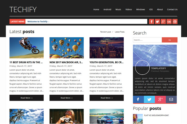 Techify - Magazine Responsive Blogger Template