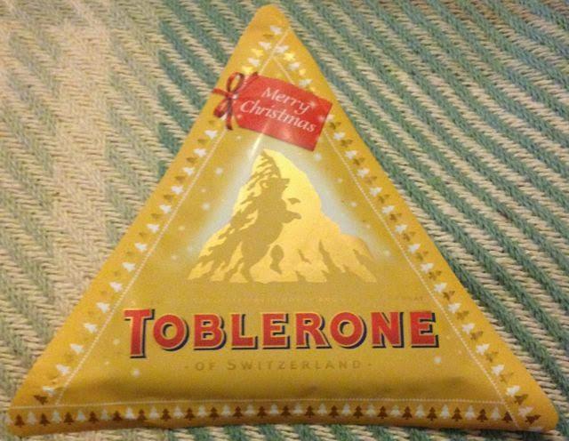 Foodstuff Finds Toblerone Flat Christmas Edition Tesco