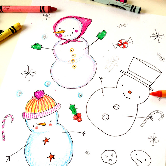 Day 9: Snowman Coloring Sheet Giveaway | Linzer Lane Blog