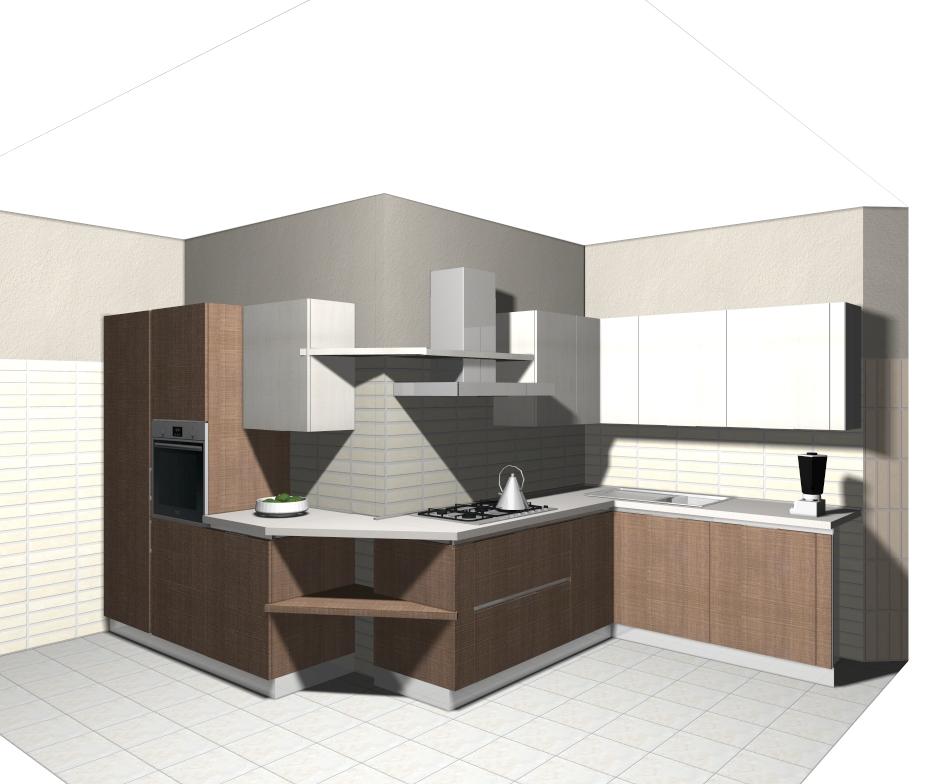 Domus arredi hai una cucina con le pareti storte piccola for Progettare mobili