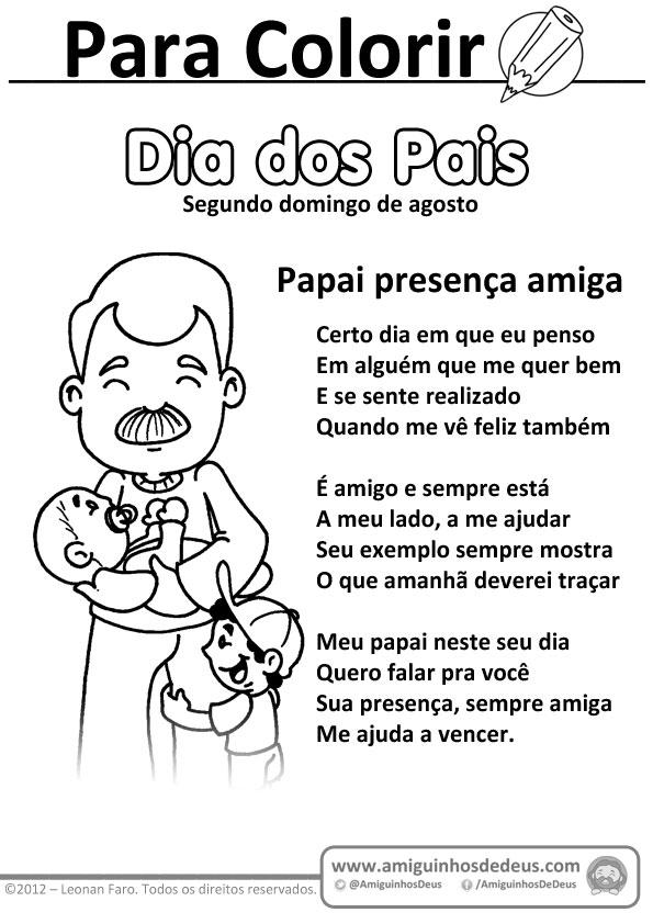 Atividade Para Os Dias Dos Pais Amiguinhos De Deus