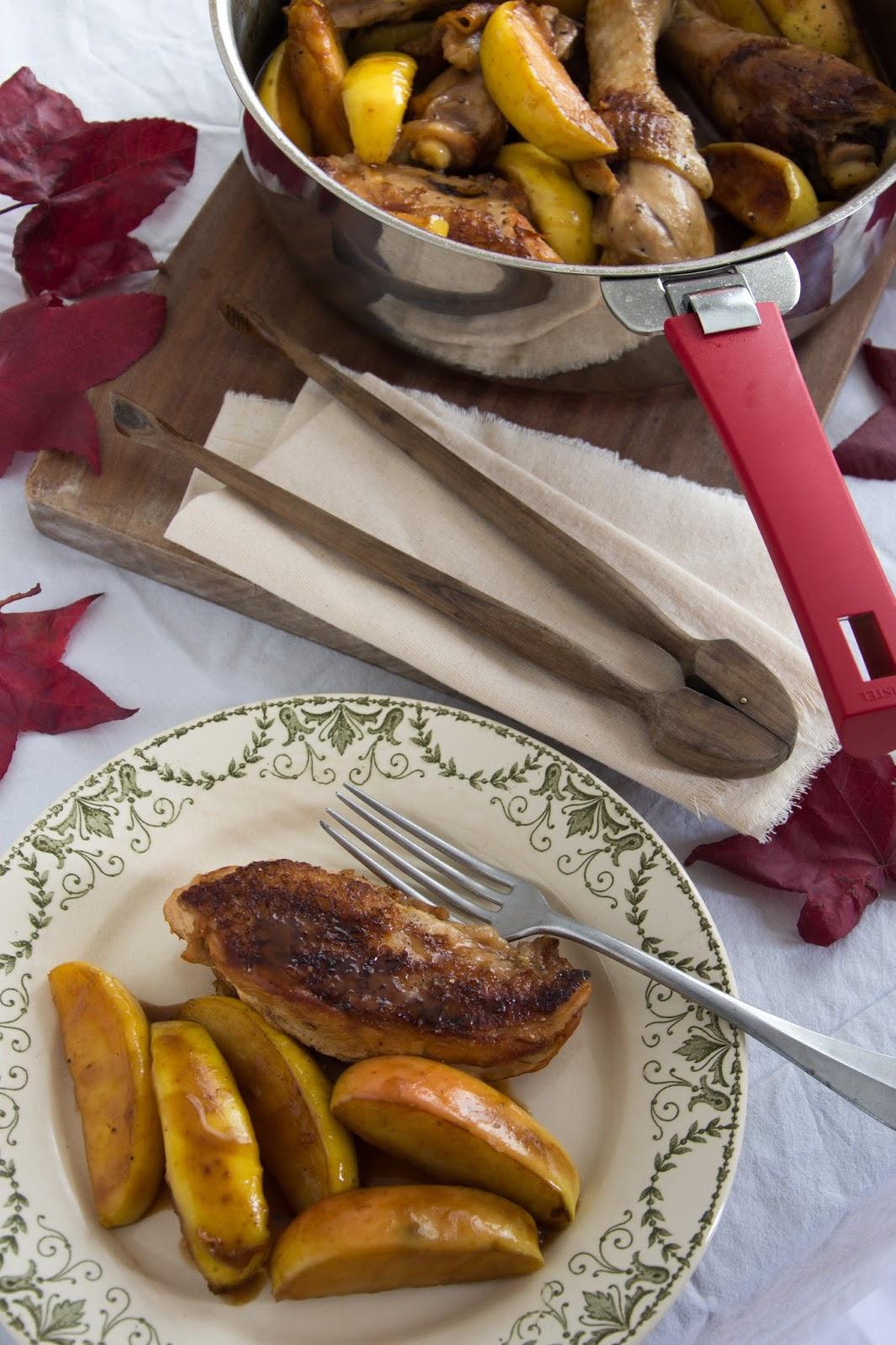 Chic chic chocolat poulet au marsala et aux pommes - Cuisiner les champignons de paris a la poele ...
