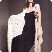 Chal Beige a Crochet o Ganchillo