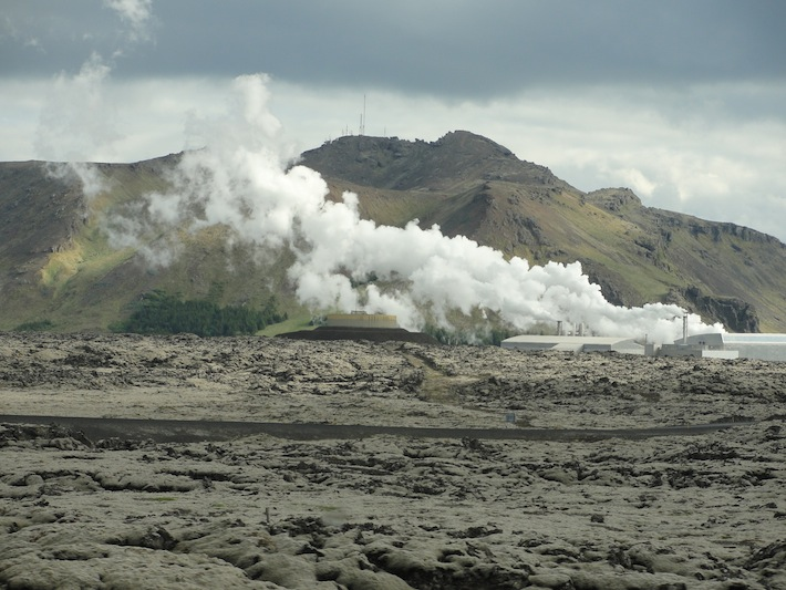 geothermal plant near blue lagoon in iceland