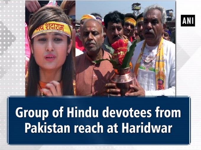 Group of Hindu devotees from Pakistan reach Haridwar