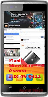 Install Stock Rom On Bricked/Bootloop Micromax Canvas Fire 4G Q411.