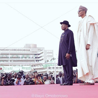 Goodluck Jonathan and Muhammadu Buhari