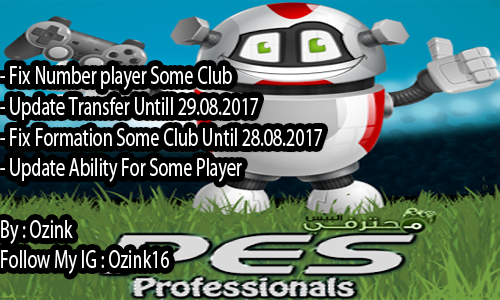 PES 2017 Option File For PES Professionals Patch 2017 V3.4 By Ozink V3.1