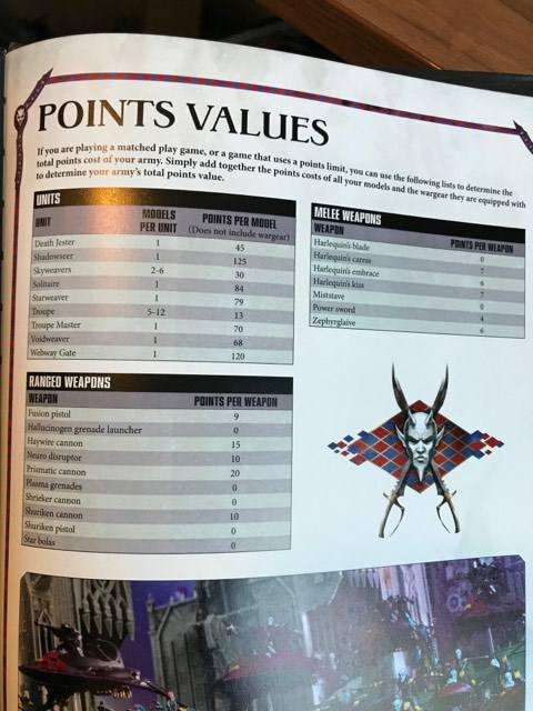 Harlequin Leaked Images w/points, Stratagems + Webway Gate - Faeit