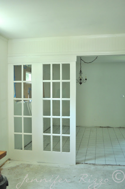 Vintage french doors used as dividers