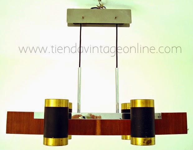 Comprar lampara vintage de diseño años 70 en buen estado, sube baja, española
