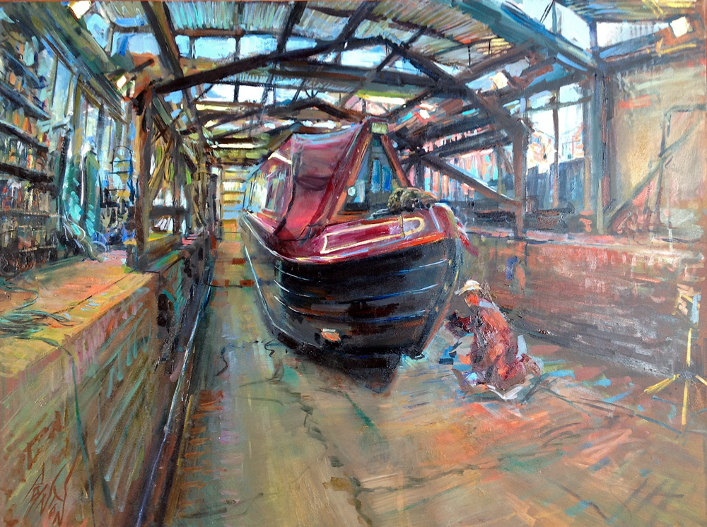 Year Of The Boat Oil Painting 50 Tooleys Boatyard Banbury