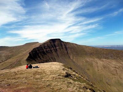brecon beacons ridge south wales