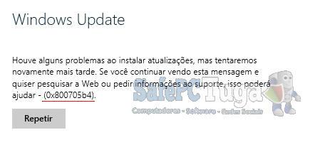 erro 0x800705b4 do Windows Update