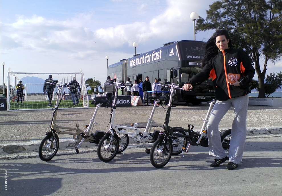 Concept, Branding, Logo, Προωθητική Ενέργεια σε 10 Πόλεις, Διοργάνωση Roadshow για την Γαλλική Εταιρία Έξυπνων Ηλεκτροκίνητων Ποδηλάτων Mobiky by Skillz
